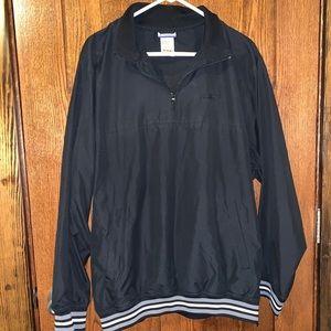 Reebok 1/4 zip black pullover Large
